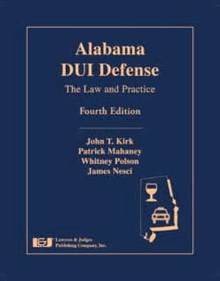 DUI defense book in Alabama