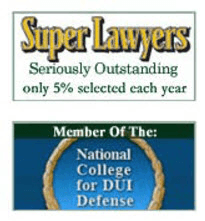 Polson and Polson Super Lawyers banner. Below is a banner saying that these DUI attorneys are members of the National College for DUI Defense
