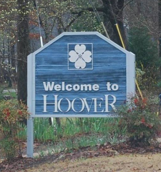 Hoover AL Welcome Sign