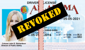 AL License Revoked for Drunk Driving