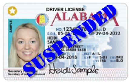 AL DUI Driver's License Suspended
