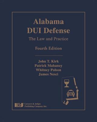 Alabama DUI Defense Book by Whitney Polson